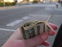 dolary w dłoni